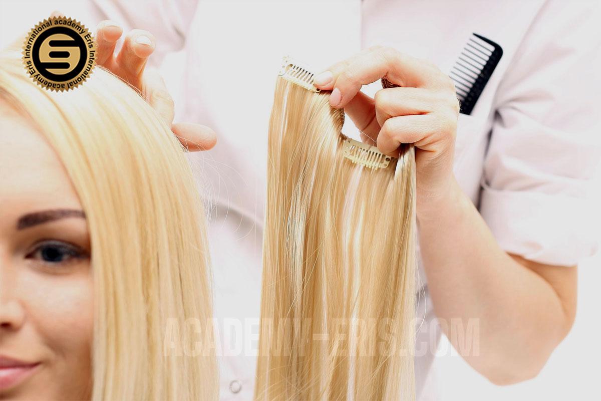 آموزش انواع اکستنشن مو